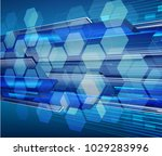 binary circuit board future... | Shutterstock .eps vector #1029283996
