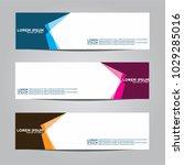 banner background.modern vector ... | Shutterstock .eps vector #1029285016
