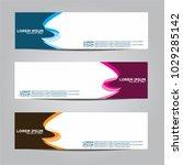 banner background.modern vector ... | Shutterstock .eps vector #1029285142