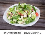 chicken and vegetables in a...   Shutterstock . vector #1029285442