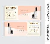 gift voucher hydrating facial... | Shutterstock .eps vector #1029286426