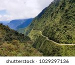 the death road in bolivia used... | Shutterstock . vector #1029297136