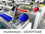 offset printer press in... | Shutterstock . vector #1029297268