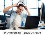 support phone operator in... | Shutterstock . vector #1029297805