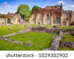Stock photo ruined st augustine s abbey the oldest benedictine monastery in canterbury kent southern england 1029302902