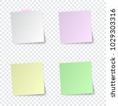set of paper stickers with... | Shutterstock .eps vector #1029303316
