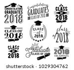 graduation wishes monochrome... | Shutterstock .eps vector #1029304762