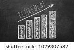retirement saving concept on...   Shutterstock . vector #1029307582