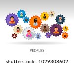 peoples flat icon concept.... | Shutterstock .eps vector #1029308602