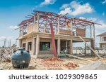 house building structure at... | Shutterstock . vector #1029309865