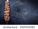 traditional barbecue skirt... | Shutterstock . vector #1029310582
