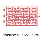 labyrinth shape design element. ... | Shutterstock .eps vector #1029314098