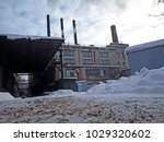 an abandoned old factory | Shutterstock . vector #1029320602