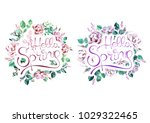 watercolor hand drawn floral... | Shutterstock . vector #1029322465