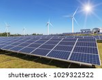 rows array of  polycrystalline... | Shutterstock . vector #1029322522