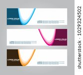 banner background.modern vector ... | Shutterstock .eps vector #1029324502