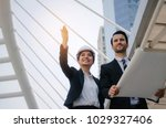 business or engineer asian... | Shutterstock . vector #1029327406