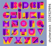 vector bright decorative... | Shutterstock .eps vector #1029329896