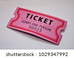 ticket admit one person  23  | Shutterstock . vector #1029347992