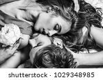 sexy couple young beautiful...   Shutterstock . vector #1029348985