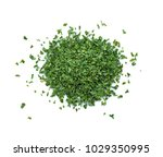 dried parsley isolated on white ... | Shutterstock . vector #1029350995