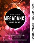 modern music party poster.... | Shutterstock .eps vector #1029353026