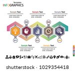 infographics business template... | Shutterstock .eps vector #1029354418