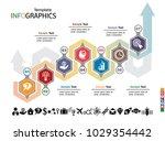 infographics business template... | Shutterstock .eps vector #1029354442