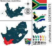 vector map of western cape... | Shutterstock .eps vector #1029355675