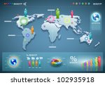 3d vector world map... | Shutterstock .eps vector #102935918