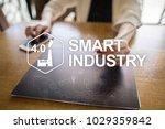 smart industry. industrial and... | Shutterstock . vector #1029359842