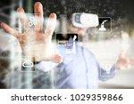 smart industry. industrial and... | Shutterstock . vector #1029359866