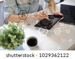 business structure diagram ... | Shutterstock . vector #1029362122