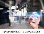 roi  return on investment... | Shutterstock . vector #1029362155