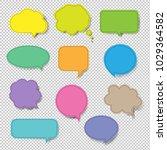 colorful speech bubble set... | Shutterstock .eps vector #1029364582