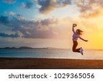 summer lifestyle traveler woman ... | Shutterstock . vector #1029365056