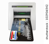 money withdrawal. atm and... | Shutterstock . vector #102936542