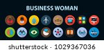 business woman flat icon... | Shutterstock .eps vector #1029367036