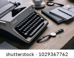 close up shot of writer... | Shutterstock . vector #1029367762