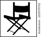 director black folding chair... | Shutterstock .eps vector #1029370702