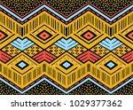 ikat geometric folklore... | Shutterstock .eps vector #1029377362