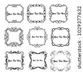 set of vector vintage frames on ... | Shutterstock .eps vector #1029377632