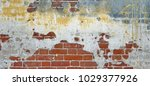 vintage painted distressed... | Shutterstock . vector #1029377926