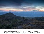 landscape with mountains sunset | Shutterstock . vector #1029377962