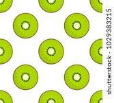 green slices of kiwi fruit...   Shutterstock .eps vector #1029383215