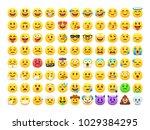 Yellow Emoji Faces. Happy Smile ...