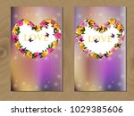 valentines day heart with... | Shutterstock .eps vector #1029385606