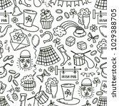 st patrick day irish seamless... | Shutterstock .eps vector #1029388705