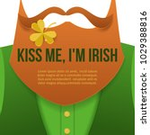 kiss me im irish.saint patrick... | Shutterstock .eps vector #1029388816