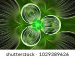 Abstract Exotic Green Flower...